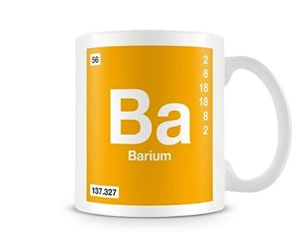 Periodic table of elements 56 ba barium symbol mug amazon periodic table of elements 56 ba barium symbol mug urtaz Images