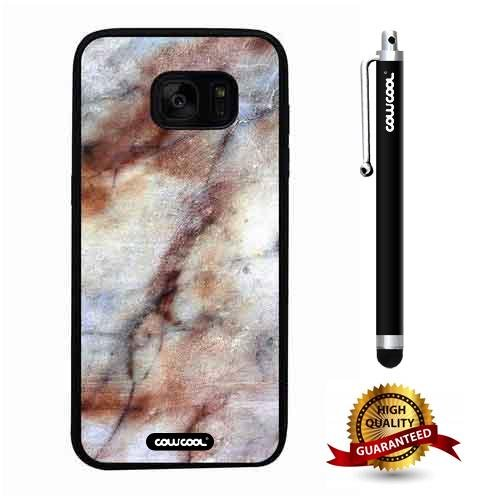 - Galaxy S7 edge Case, Marble Pattern Case, Cowcool Ultra Thin Soft Silicone Case for Samsung Galaxy S7 edge - Clouds Cascade Marble Texture