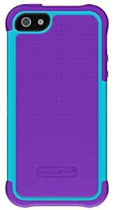 Ballistic SG0926-M015 Screen Guard Casefor iPhone 5 - 1 Pack - Retail Packaging - Purple/Teal