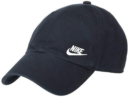 Golf Twill Cap Cotton Panel - NIKE Women's Heritage86 Futura Classic Cap, Black/White, One Size