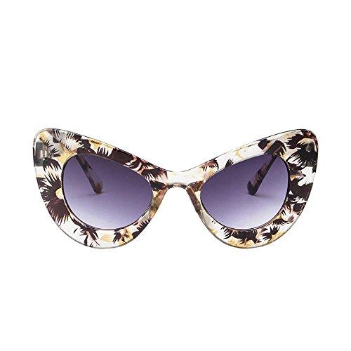 Price comparison product image Big Oversized Thick Gothic Vintage Sunglasses Women Classic Cat Eye Plastic Beautyfine