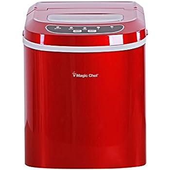 Magic Chef MCIM22R 27-Lb. Portable Red Countertop Ice Maker, 27 lb