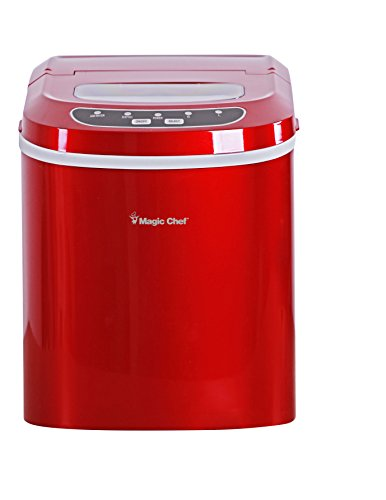 Price comparison product image Magic Chef MCIM22R 27-Lb. Portable Red Countertop Ice Maker,  27 lb