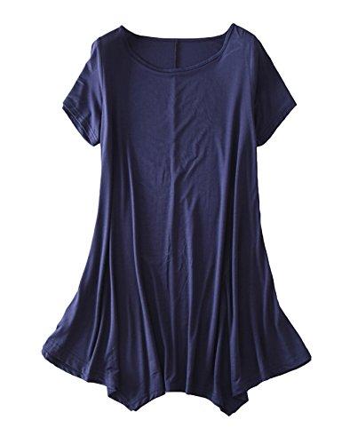 Del Oscilaci De Las Marino Vestido De Corta De Mujeres Legou n Manga Suelta Color Azul xwaI7A