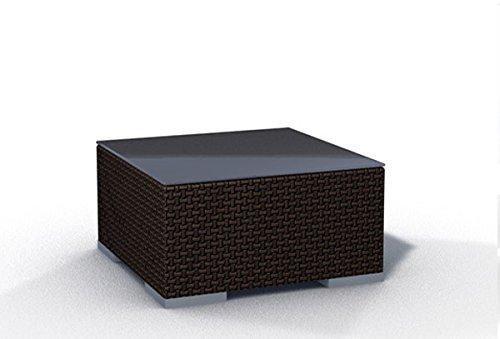 Gartenmöbel Rattan Tisch Espace Tisch B 75x75cm Polyrattan, dunkelbraun