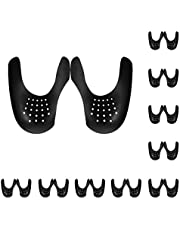 ZJHSXDR 10 Pairs Shoe Crease Protector Toe Box Decreaser Prevent Shoes Crease Protector Indentation Anti Crease Shoe Protector for Women's 5-8 (Black)