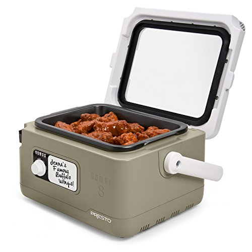 PRESTO NOMAD Traveling 8 Quart Slow Cooker, rugged, wide-profile picnic-cooler style design, tan by Presto (Image #2)