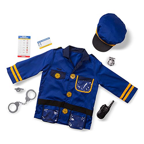 Melissa & Doug Police Officer Role-Play Costume Set (Pretend Play, Materials, Machine Washable, Great Gift for Girls and Boys - Best for 3, 4, 5, and 6 Year Olds) (Uniform Police Boys)