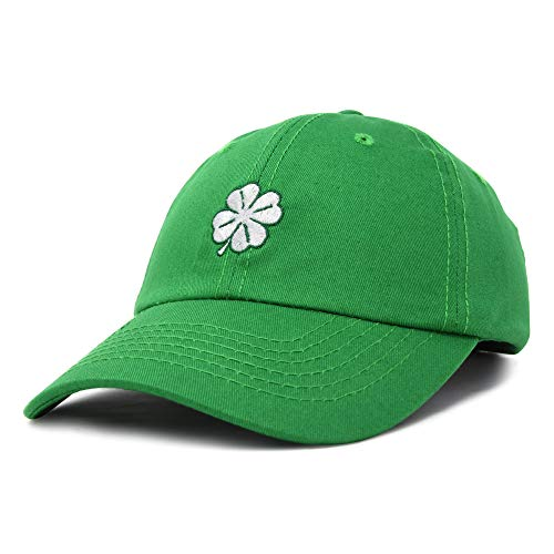 DALIX Four Leaf Clover Hat Baseball Cap St. Patrick's Day Cotton Caps Kelly Green ()