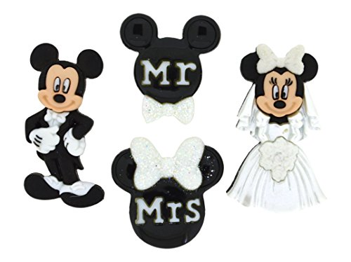 - Dress It Up 8813 Mickey and Minnie Wedding Disney Button Embellishments