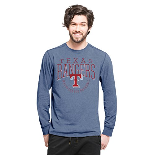 '47 MLB Texas Rangers Men's Cadence Long Sleeve Tee, Small, Shift (Texas Rangers Long Sleeve)
