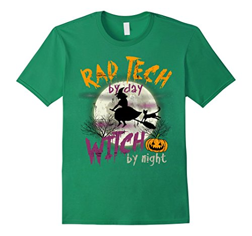 Mens Rad Tech By Day Witch By Night T-shirt Small Kelly Green