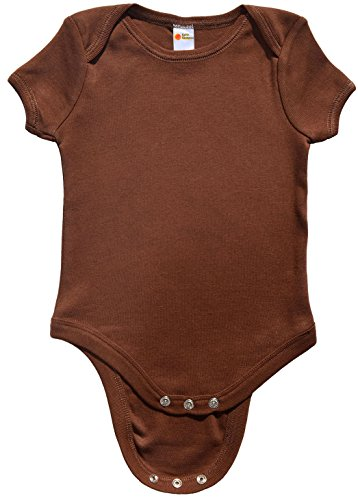 Earth Elements Baby Short Sleeve Bodysuit 3-6 Months Chocolate]()