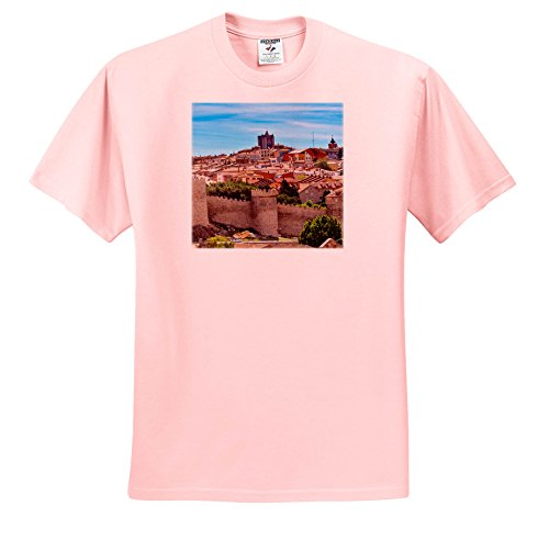 Castile Light 3 (Danita Delimont - Cities - Looking Out Over The Ancient Medieval City Of Avila, Castile, Spain. - T-Shirts - Youth Light-Pink-T-Shirt XS(2-4) (TS_257893_43))
