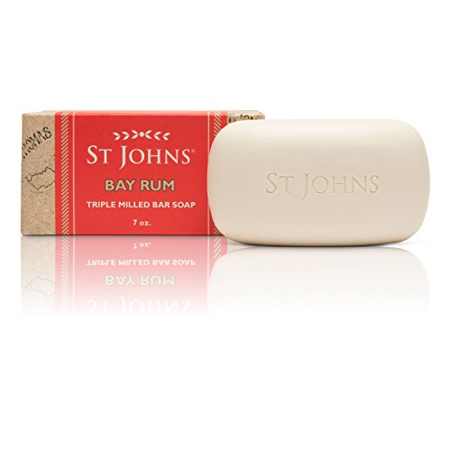 Bay Rum Soap Bar by St Johns. 7 Oz Luxury Mens Bath Soap. 3X Milled Creamy and Fragrant Long Lasting. A best smelling, highly rated luxury soap for guys. Bay Leaf Oil. Glycerine. Vitamin E.