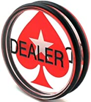 Poker Dealer Button | Quality Premium Heavy Poker Puck | 3-Inch Large Casino-Grade Button | Luxury Gaming Acce