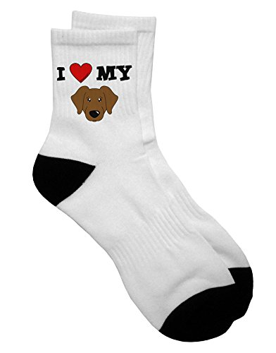 Retriever Mens Shorts - TooLoud I Heart My - Cute Chocolate Labrador Retriever Dog Adult Short Socks Mens sz. 9-13