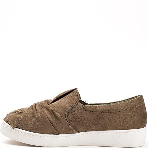 Ideal Shoes, Damen Sneaker Taupe