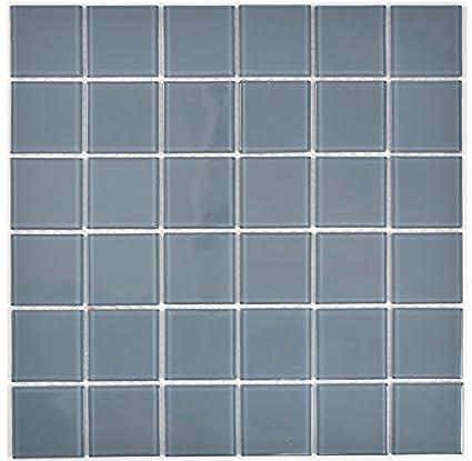 Mosaico Per Bagno Doccia.Piastrelle A Mosaico In Vetro Trasparente Grigio Per Bagno