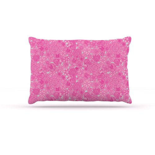 """Kess InHouse Julia Grifol """"Welcome Birds to My Pink Garden"""" Fleece Dog Bed, 30 by 40-Inch For Sale"""