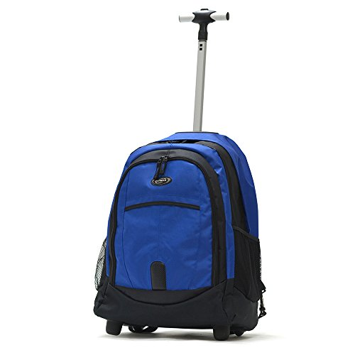 "Olympia Sports Plus 19"" Rolling Backpack, Wheeled Computer Bag in Blue"