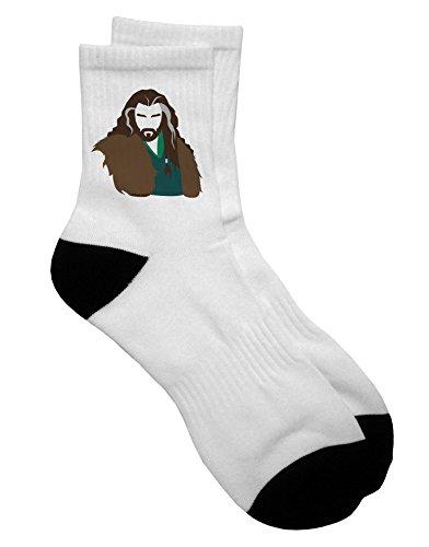 TooLoud Dwarf King Adult Short Socks Ladies 6-9 or Mens 6-8
