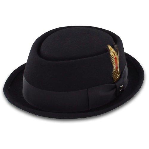 Belfry-Be-Bop-100-Wool-Felt-Mens-Pork-Pie-Hat-in-Black-or-Gray