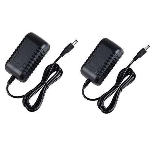 2 Pack, ZIUMIER AC to DC 12V 2A 24W Power Supply Adapter for CCTV Security Camera DVR NVR LED Strip Light, 5.5mmx2.1mm Barrel Jack