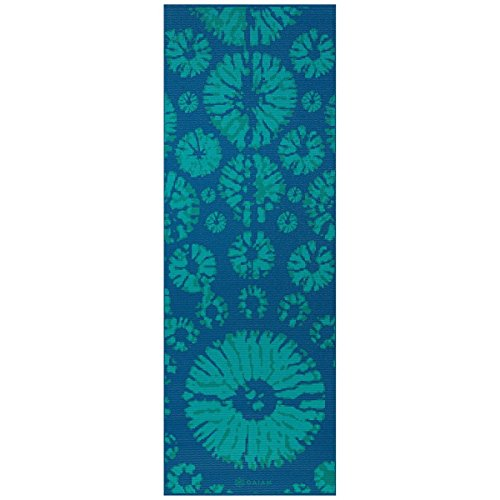 (Gaiam Yoga Mat Premium Print Reversible Extra Thick Non Slip Exercise & Fitness Mat for All Types of Yoga, Pilates & Floor Exercises, Reflection, 6mm)