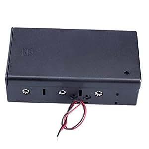 MK 4 Ranura cuadro titular caso la fuente de energía de la batería tamaño xd con cables y tapa