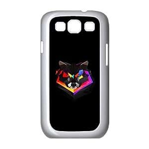 Samsung Galaxy S3 Cases Cute Colorful Wolf Head, Wolf Case For Samsung Galaxy S3 Mini I8200 [White]