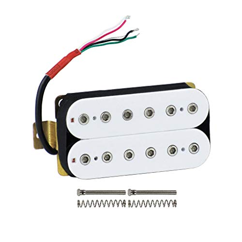 Double Humbucker - FLEOR Guitar Humbucker Pickups Double Coil Neck Pickup for Electric Guitar Pickup-White