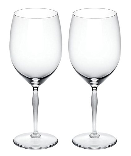 Lalique 100 Points Bordeaux Glasses By James Suckling, Pair