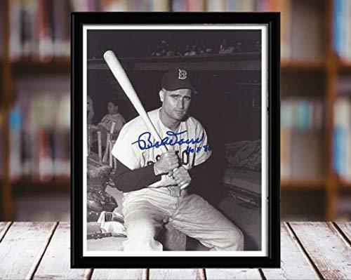 (Bobby Doerr Autograph Replica Print - 5x7 Desktop Framed Print - Portrait)