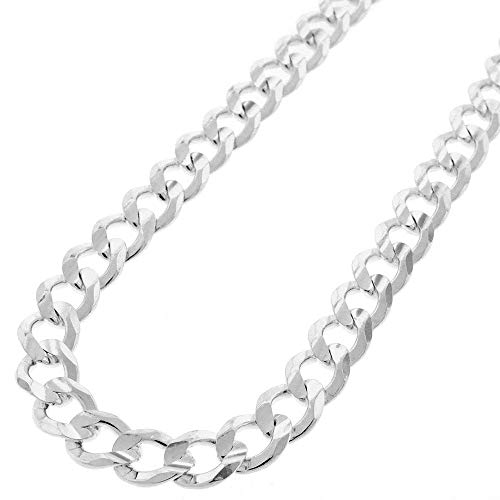 Sterling Silver Italian 8.5mm Cuban Curb Link ITProlux Solid 925 Necklace Chain 20