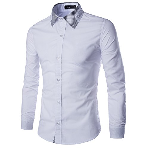 2017 Spring Mens Shirt Long Sleeve Slim Fit Clothing Men