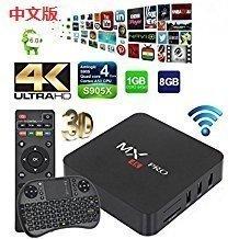 [2018 Version] CNTV 中文电视 即點即有(CCTV/Taiwang/Hongkong/TVB)live channel Android 6.0 TV BOX UHD 4K /64Bit/Amlogic S905X Quad Core +Mini Wireless Keybords