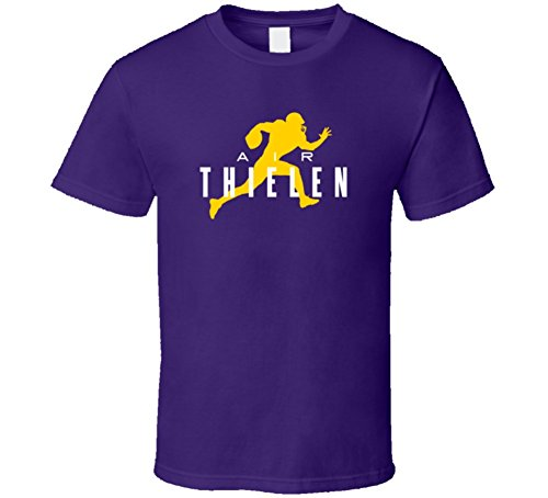 Tshirtshark Air Adam Thielen Minnesota Football Player Fan Parody T Shirt M Purple (Adam Tee)