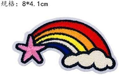 Arcoiris Bolsa Zapatos o para Hacer Manualidades Size 8 * 4 CM Lumanuby Sombrero 10X Parche de Bordado Pegatinas de Tela para Coser Decorar Prendas de Ropa por Ejemplo Vaqueros