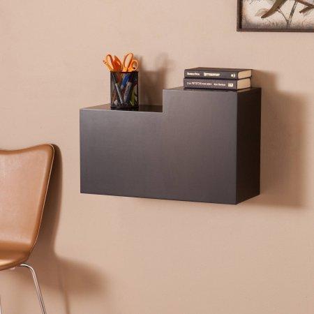 Southern Enterprises Denver Fold Down Wall Mount Desk, Espresso