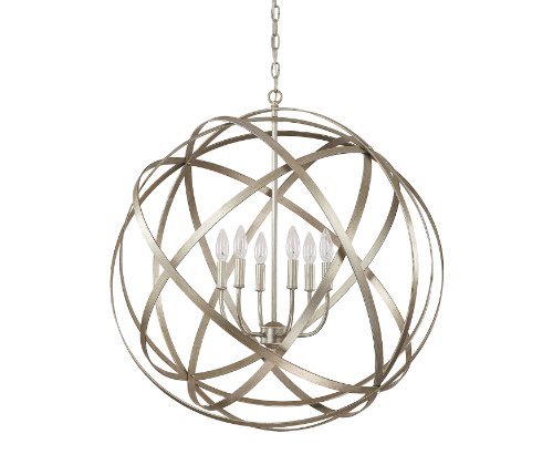 Capital Lighting 4236WG Axis 6-Light Pendant, Winter Gold Finish