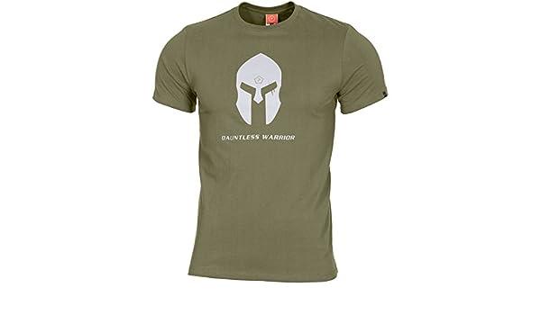 PENTAGON Hombres Ageron T-Shirt Spartan Helmet Olive: Amazon.es ...