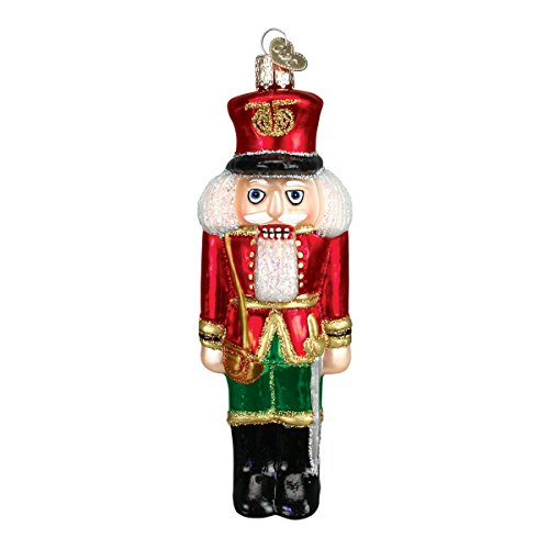 Old World Christmas Soldier Nutcracker Glass Blown (Old World Christmas Nutcrackers)