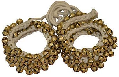 Handicrafts Indian Classical Kathak Ghungroo Pair 16 No. Big Bells Tied with Cotton Cord For Anklet …