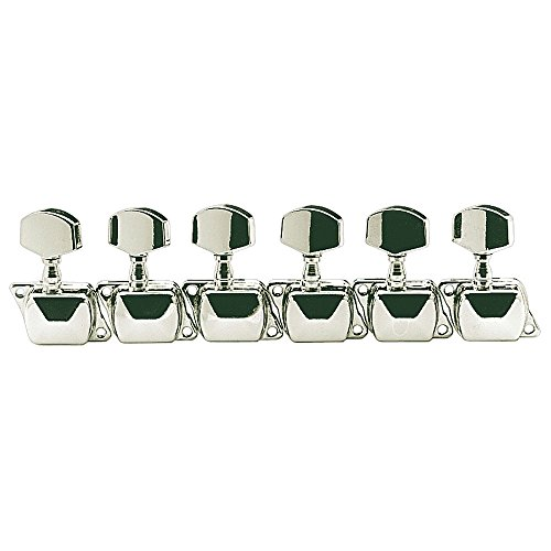 Golden Gate Guitar Bodies - Golden Gate S-100 Electric Guitar Tuners - Set of 6 - Chrome
