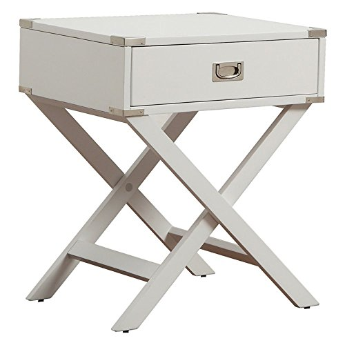 Inspire Q 1 Drawer Accent Table with X Leg by Inspire Q