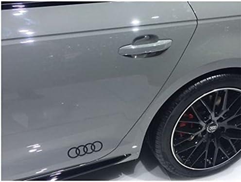 Audi Original Q2/C Blade Pellicola Decorativa Set Anelli exterieur Anelli Brilliant Nero 81b064317/Y9B