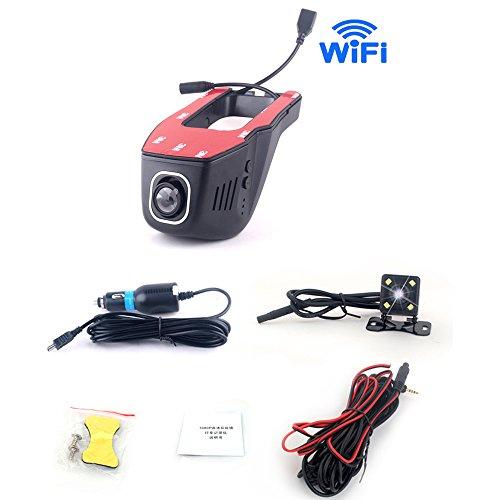 - Universal Car hidden DVR Dash Camera Cam Digital Video Recorder Camcorder FHD 1080P Night Version Novatek 96655 car driving recorder camera car front and back camera(Dual cameras-front and back)-A8B