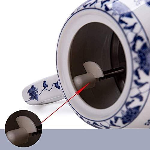 Wyxy Bouilloires Bouilloire électrique sans Fil en céramique théière-rétro Rouge 1.8L cruche, 1000W Rapide de l'eau pour Le thé Rapide