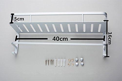 porte-serviettes mural en alliage daluminium Porte-serviettes Porte-serviettes de bain 1 niveau support de barre porte-serviettes for toilettes Cuisine Bureau Toilette Bureau